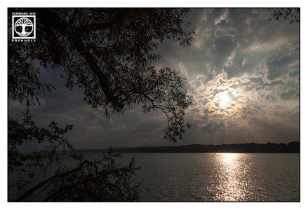 sunset lake, light darkness, lake starnberg, starnberg