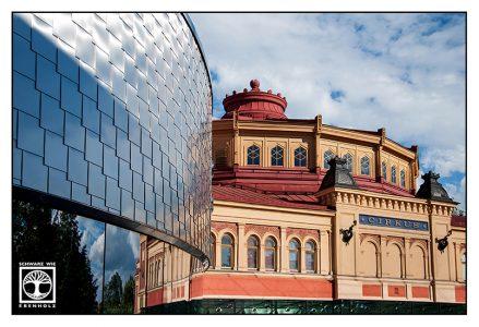 Stockholm Zirkus, Stockholm Cirkus, Stockholm Circus, Stockholm, Schweden, Reflexion Glas, Reflexion Fenster, Reflexion Scheibe