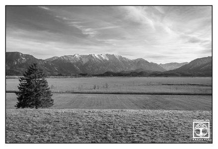 Murnau, Murnauer Moos, marsh, mountains, bavaria, germany, black and white mountains