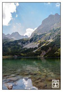 austria, seebensee, lake seeben, mountains, mountain lake, alps