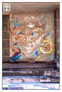 tazacorte, graffiti, graffiti face, la palma