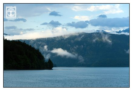 Walchensee, Walchensee regen, Bergsee, blau, Regen