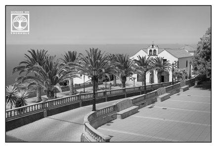 black and white church, santo domingo, garafia, la palma