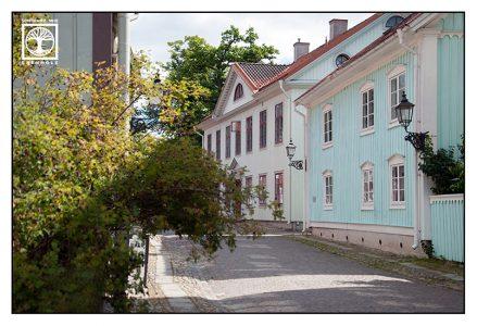 Örebro, Schweden, traditionelles schwedisches Haus, villa