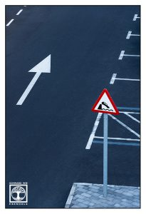 abstract photo, abstract photography, lines photography, traffic sign, tazacorte, la palma, point line area photography