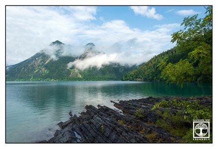 Walchensee, Alpsee, Bergsee, Berge Wolken