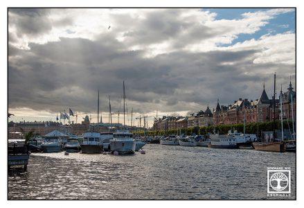 Stockholm, Stockholm Hafen, Wolken Licht