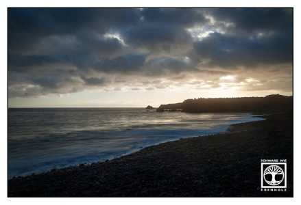 sunset sea, sunset la palma, tazacorte beach, sunset beach, la palma