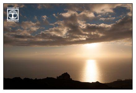 sunset sea, sunset la palma, la palma