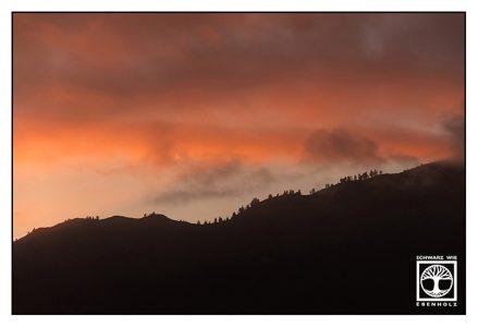 sunset, pink sunset, la palma, los llanos de aridane, los llanos