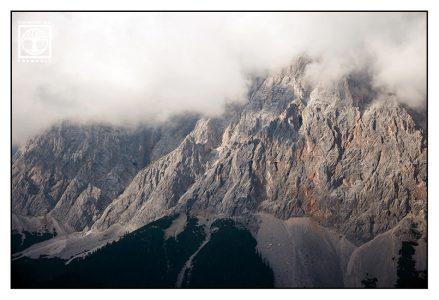 mountains, alps, cloudy mountains, foggy mountains, austria