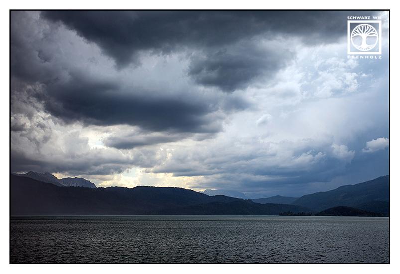 Walchensee, Lake Walchensee, Lake Walchen, mountains, rainy weather, rainy day, rain, storm, thunderstorm