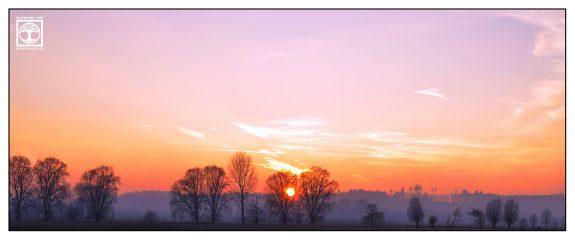 sunset panorama, sunset