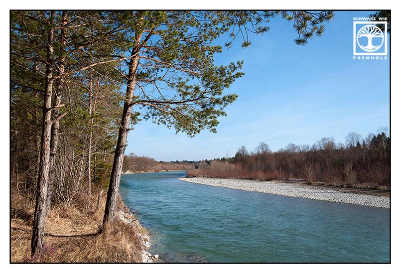River Isar, river spring