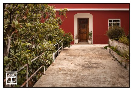 red building, red house, la palma