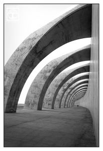tunnel, black and white tunnel, la palma, tazacorte, puerto, vanishing point photography, perspective photography
