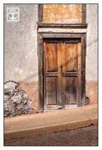 wooden door, old wooden door, brown wooden door, La Palma, Santo Domingo, Garafia