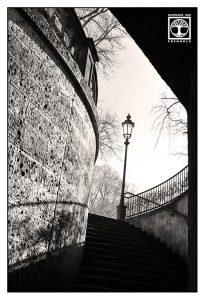 München, Treppe schwarzweiss, Unterführung schwarzweiss
