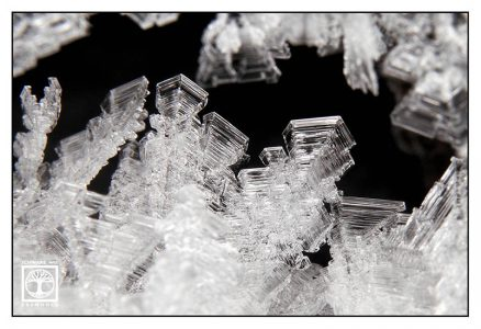 ice crystals, ice crystals macro