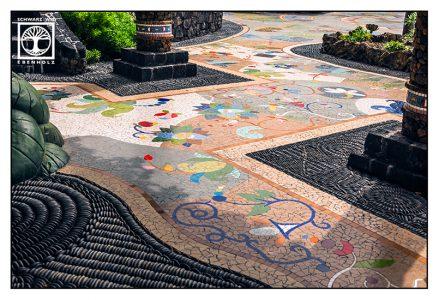 mosaic path, Plaza de Glorieta, Luis Morera, La Palma