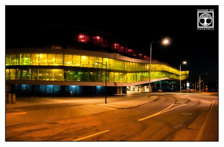 Nachtaufnahme Stadt, Malmö, Hyllie, Langzeitaufnahme nacht