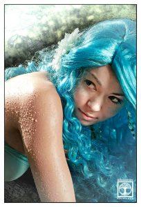 wassernymphe fotoshooting, nymphe fotoshooting, blaue haare