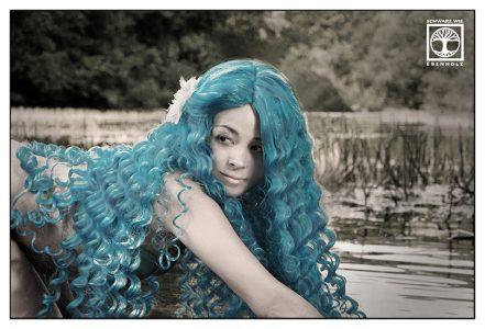 wassernymphe fotoshooting, nymphe fotoshooting, blaue haare, see fotoshooting