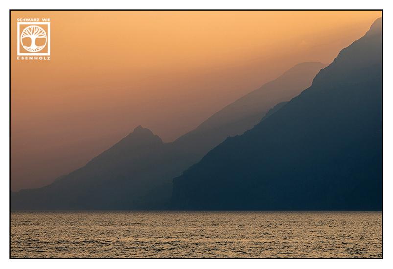 Lake Garda, Lago di Garda, sunset, sunset lake Garda, Italy