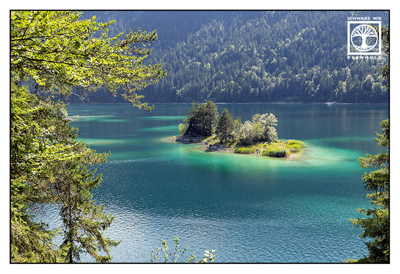 Eibsee, Lake Eibsee, lake summer, lake, summer, isle, island