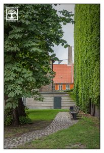 oranges Haus, Park, Kopenhagen, Dänemark