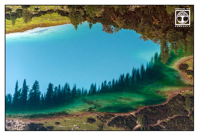 Surrealismus, Surreale Fotografie, Reflexion Wasser, Spiegelung Wasser, Spiegelung See, Spiegelung Berge, Reflexion Berge