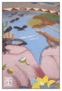 mosaic, lizard, graja, luis morera, plaza de la glorieta, la palma