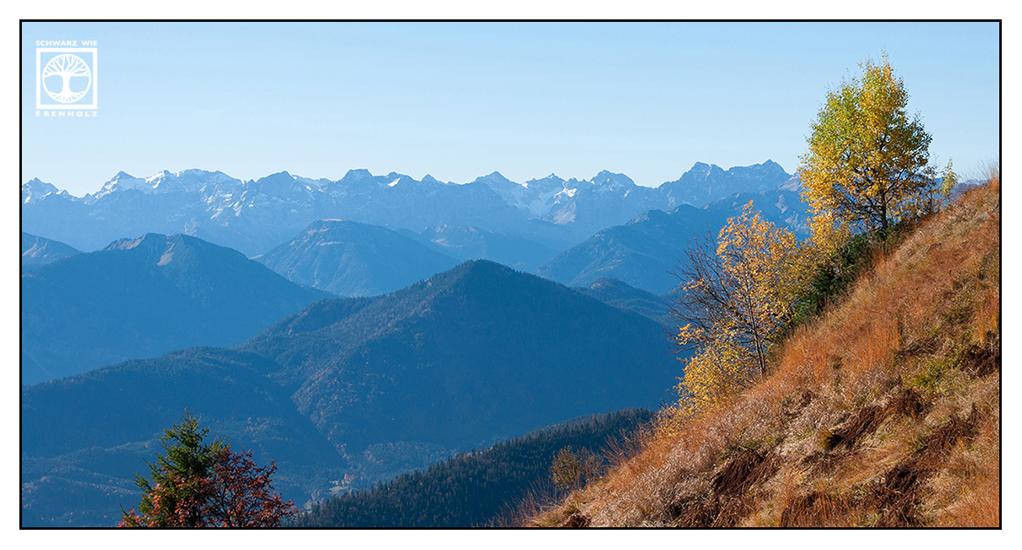 berge herbst, Brauneck, alpen herbst, herbstlaub, baum herbst