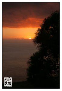 sunset, sunset beach, romantic sunset, la palma