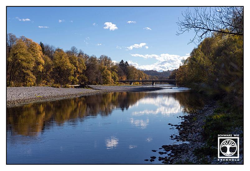 River Isar, autumn river