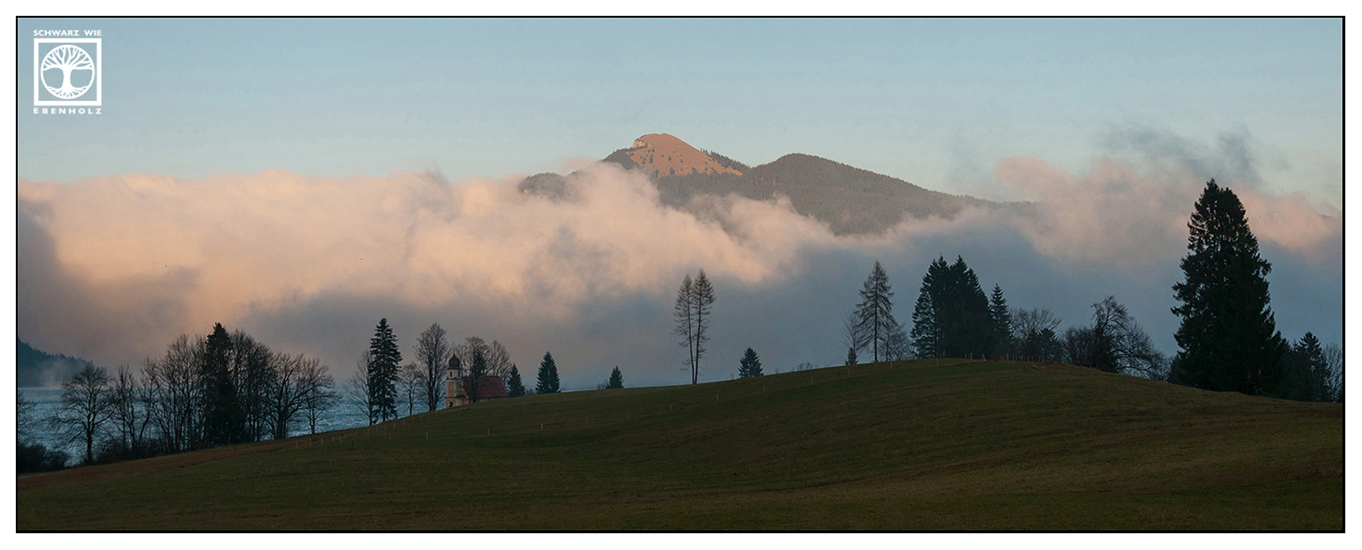Walchensee, Berge Wolken, Alpen