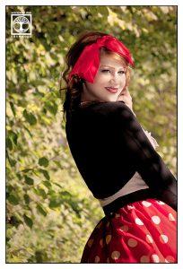 vintage photoshoot, polkadot photoshoot, forest photoshoot