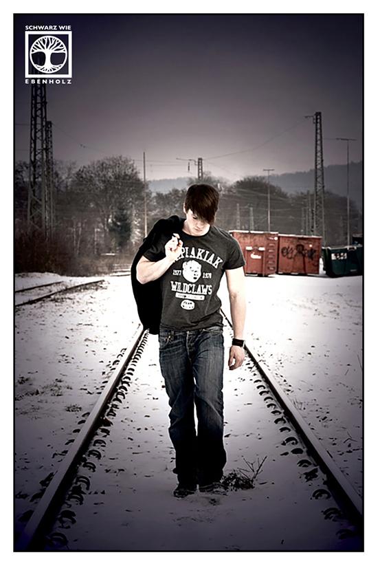 vintage photoshoot, james dean photoshoot, retro photoshoot, Tübingen, train photoshoot, railroad photoshoot