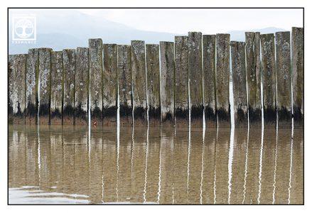 abstract photo, abstract photography, stakes lake, lake kochel, kochelsee, wooden fence