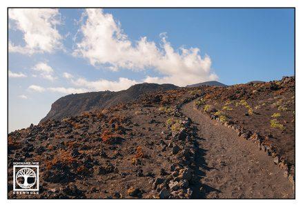 volcano, volcanic landscape,volcano path, la palma, fuencaliente