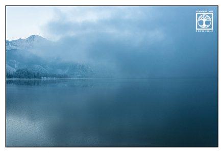 blue lake, foggy lake, winter lake, lake kochel, kochelsee