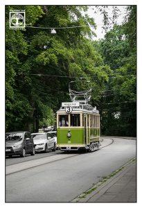 Malmö, Sweden, grüne tram, grüne Straßenbahn