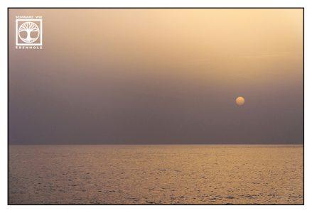 sunset sea, foggy sunset, la palma