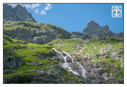 Wasserfall Berge, Österreich, Ehrwald