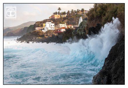 high waves, high tide, la palma, san andres, la palma coast