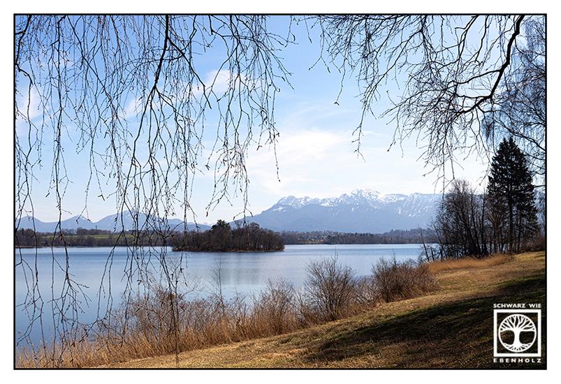 Staffelsee, lake in spring