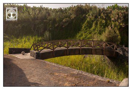 wooden bridge, san andres, la palma