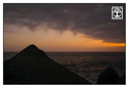 La Palma, sunset sea, Tazacorte