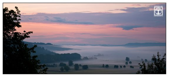 sunrise, sunrise valley, foggy valley, pink sunrise