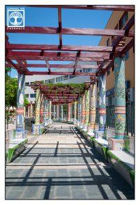 La Palma, Tazacorte, mosaic, vanishing point photography, perspective photography